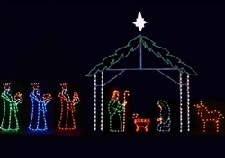 LED Nativity with eight pieces