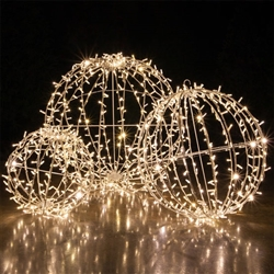 hanging lighted LED Spheres