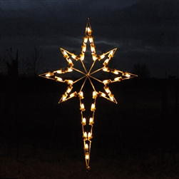 giant lit star for hanging