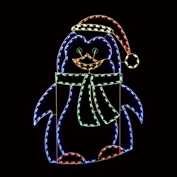 Silhouette penguin with LED bulbs
