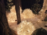 Manzanita Snow Balls with LED 5MM Lights