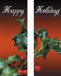 18 oz. vinyl banner with Holly & Berries