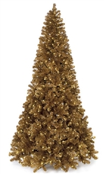 indoor copper tinsel tree