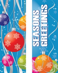 Double Seasons Greetings with Ornaments Banner
