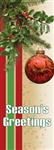 vinyl banner with Holly and ornament