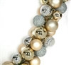 silver and gold ball garland