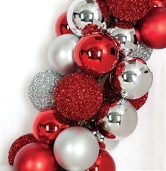 red and silver ball garland