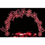 28' X 45' Silhouette Poinsettia Arch with LED Bulbs
