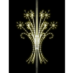 12'  Self Standing 3D Shooting Snoburst Spectacular with Twinkling Lights in LED