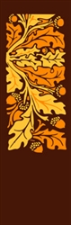 Single Fall Leaves & Acorns banner