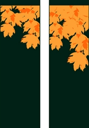 Double Design Fall leaves Banner