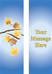 Autumn Branches with personalization double design banner