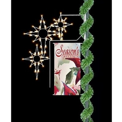 "Lighted 30"" Commercial banner Enhancer with Bethlehem Stars"