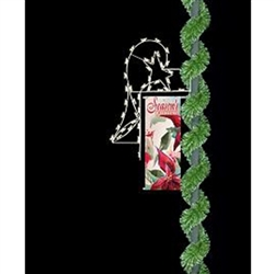 "18"" Horn & Star Light-Up Christmas Pole-Mounted Banner Enhancer"