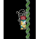 "18"" Banner Enhancer with Ornaments with  32 C7 Bulbs"