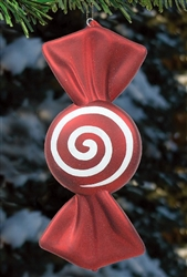 Peppermint swirl ornament