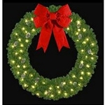 "72"" or 96"" lighted Mountain Pine Wreath"