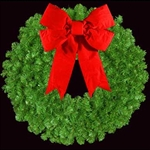 "36"" to 72"" Unlit Mountain Pine Wreaths with 3D Bow"