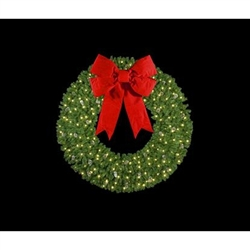 "36"" to 72"" Wall Mount Wreaths with LED Lights and 3D Bow"