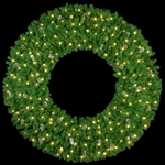 "3-D 72"" to 144"" Lighted Mountain pine wreath with C7 Bulbs"