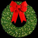 Single faced Wall mount wreaths with LED Bulbs