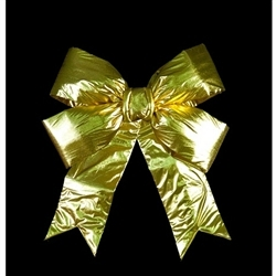 "18"" & 24"" 3-D Structural Gold Metallic Bows"