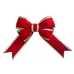 Red Extra Puff Giant Bow with gold nylon trim