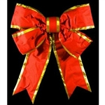 Red Nylon Bow with Gold trim