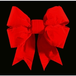 "18"" or 24"" 3D Red Velvet Bows Indoor/Outdoor use"