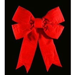 "3D Red Velvet Bow 48"" or 60"" 3D Structural"