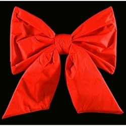 "16"" to 48"" Double-Faced Red Nylon Frame Christmas Bow"