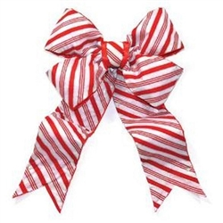 Red and white striped Bow