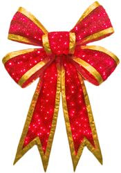 LED Lighted Holiday Bows