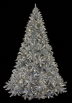 large artificial silver tree