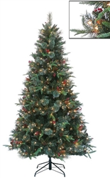 Indoor Belfast Fir Timberline Indoor Christmas tree with Clear Lights