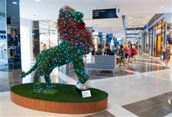 LED Lighted Topiary Lion