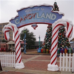 Foam candy Land sign