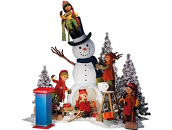 interactive snowman and puppet Santa's