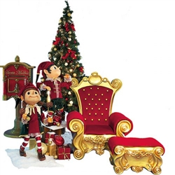 animated scene with Santa Chair and foot rest