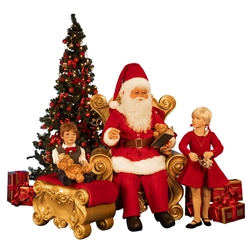 Santa scene with 2 children