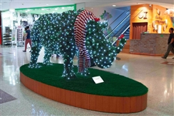 Giant Topiary Lighted Rhino