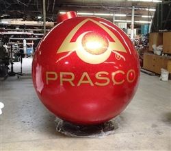 "Custom LOGO on 84"" Fiberglass Glitter Ball Ornament in Ohio"