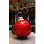 "84"" Glitter Red Fiberglass Ball Ornament In Saint Louis, MO."