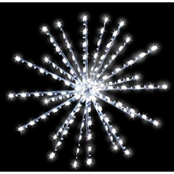 3D commercial Snowburst tree Topper