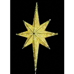 8' Hanging Moravian Star with LED and Glitter mesh