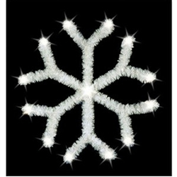 2D Garland tree Topper Snowflake