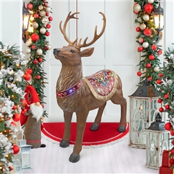 fiberglass Christmas Deer with LED lights