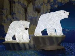 LED LED lighted polar bear family