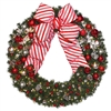 Candy Cane wreath with red and warm white lights