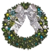 Coastal wall wreath with ornaments and bow
